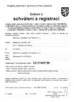Certificate of accreditation and registration